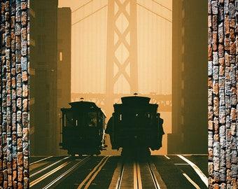 Cable Cars Vintage Railway Ad, Vintage Train, Train Art, Vintage Steam Engines, Trains, Vintage Art, Giclee Art Print, fine Art Reproduction