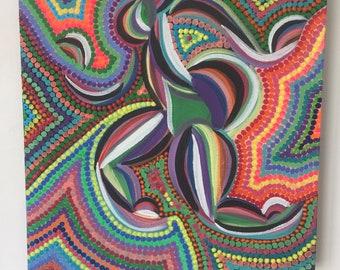 """Painting """"Black aborigine"""""""