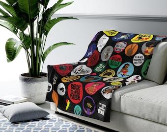 Black Girl Magic Plush Blanket - Throw Blankets - African American - Black Women Matter - Gift for Black Girls - Black History