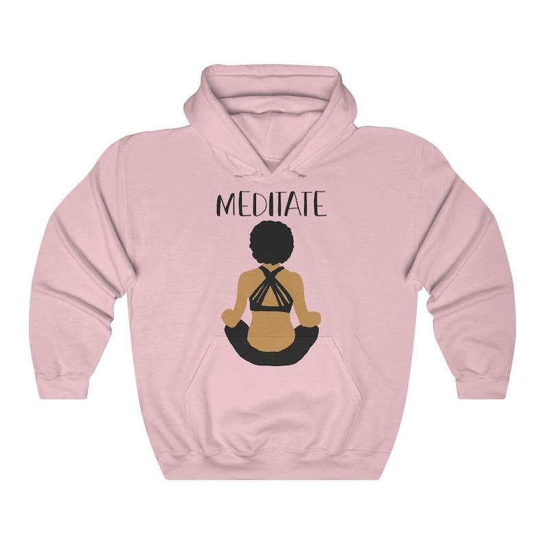 Black Girl Magic Meditation Hoodie Gift for Yogi