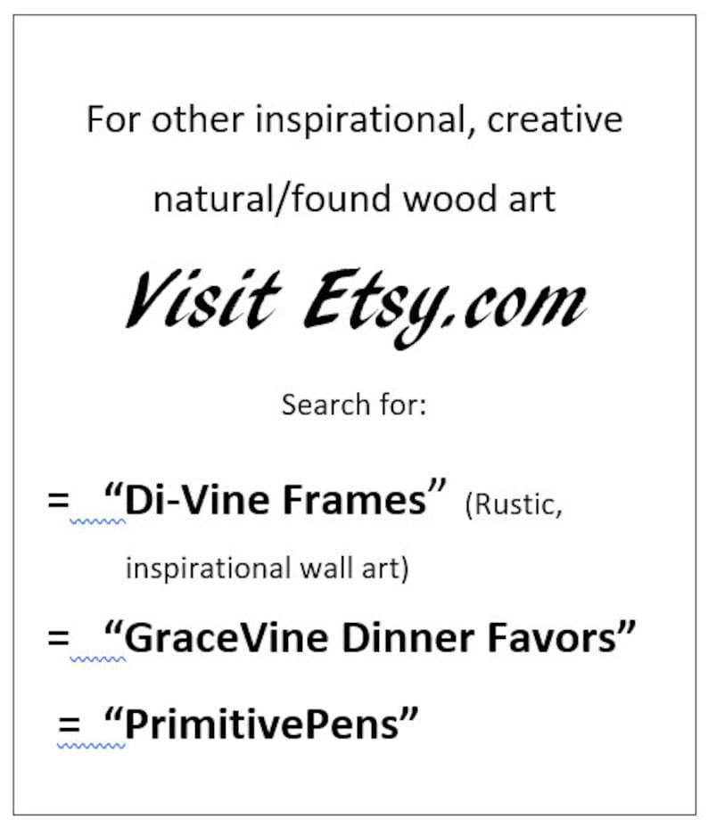 GraceVines Nature/'s Unique Artsy DINNER FAVORS 6 per box