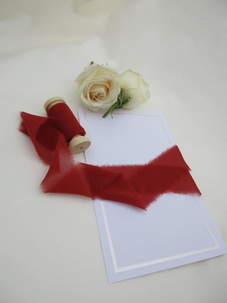 SILK CHIFFON RIBBON; 100/% High End Silk; Floral Ribbon Wedding /& Bridal Bouquets; Invitations; Favors; Photographs; Flower Girl Sash