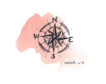 f485eb595 Dan's Compass - Watercolor Print Digital Download