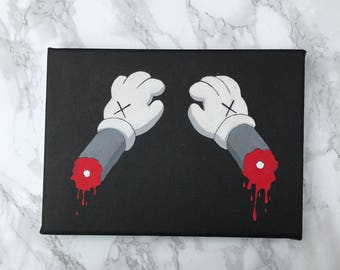 kaws hands style painting