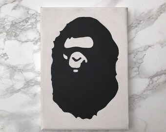 bape head style painting