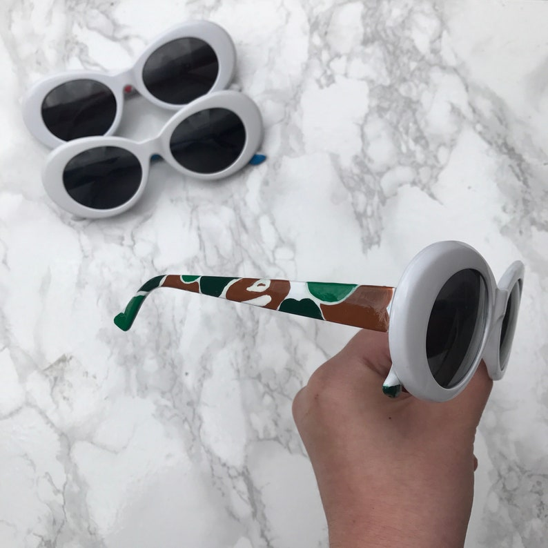 5f917a2032 Custom bape camo clout sunglasses