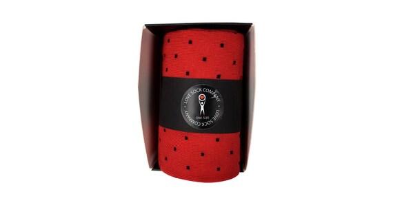 6 6 6 paquets de garçons d'honneur chaussettes cadeau individuellement emballé - coton bio - cadeau de garçons d'honneur - Chaussettes homme mariage fête - rouge et noir à pois 1306e3