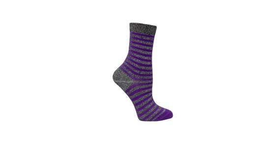 Shimmer striped socks womens | Women's casual socks | Glitter striped socks | Women's dress socks | Shimmer socks | Women's socks | Disco