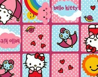 Hello Kitty - Rain Or Shine  Quilt  Cotton Fabric By The Yard / The Half Yard