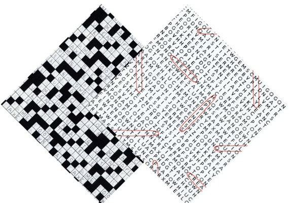 Geek Chic Word Finder Search Crossword Prints Quilt Cotton Fabric From  Timeless Treasures Fabrics By The Yard / Half Yard
