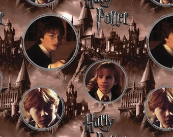 Harry Potter Hogwarts Character Ron Weasley Hermione Granger Quilt Cotton Fabric
