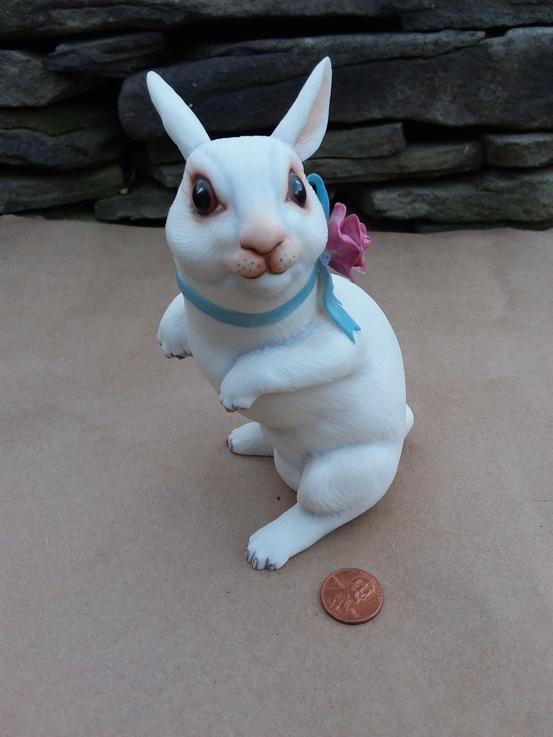 Porcelain by The Franklin Mint 1986 Rosie the Bunny Rabbit Figurine