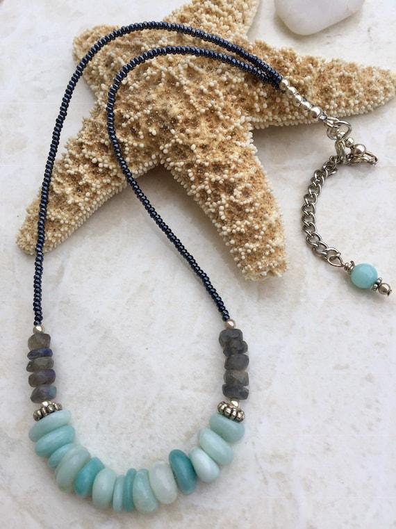 Miyuki seed bead necklace Turquoise choker necklace pave sunburst pendant necklace