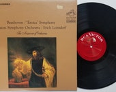 Vintage 1963 Vinyl Record Album by Beethoven by the Boston Symphony Orchestra Erich Leinsdorf titled quot Eroica quot Symphony