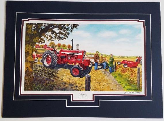 Russell Sonnenberg Farmall tractor art print titled Farmers Pride