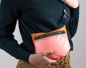 Ultra Light Small crossbody bag for Women and Men made from recycled lightweight nylon. Sling bag handmade in Berlin