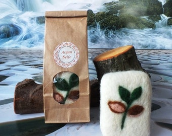 Argan soap felted in sheep's wool