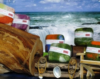 Original Aleppo soap felted with sheep's wool 85 olive oil & 15 laurel oil