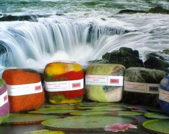 Original Aleppo soap felted 85 olive oil & 15 laurel oil, 70/30, 100, Eco-friendly peeling when showering and bathing