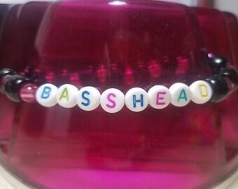 "Simple ""BASSHEAD"" Kandi Bracelet"