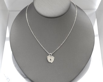 Sterling silver necklace Oriana, silver 925, fine jewelry, feet