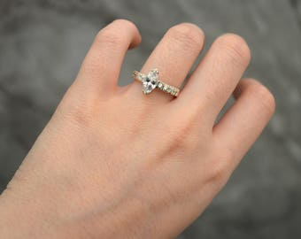 Sterling silver Ring Sonya, silver 950, fine jewelry, zircon stone