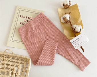 Essential Baby Girl Ribbed Cotton Leggings