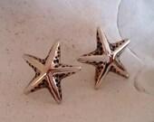 Silver Starfish Stud Earrings, Sea Star Earrings, Nautical design earrings, Sterling Silver, Handmade,Earrings 119.A