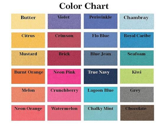 Comfort Colors Color Chart >> Monogrammed Comfort Color Monogrammed Long Sleeve Shirt Monogrammed Tank Monogrammed Short Sleeve Shirt Monogrammed Gift Vinyl