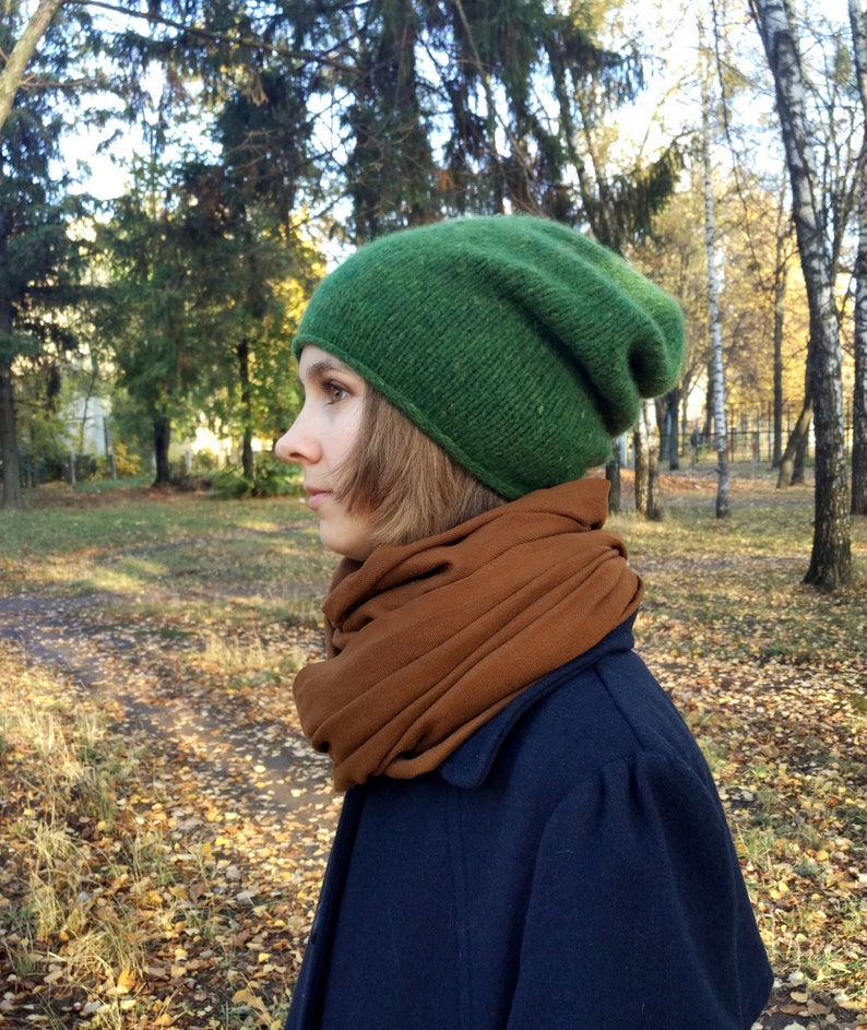 86f2a5d7c5f Green slouchy hat Wool slouch beanie Winter hats for women