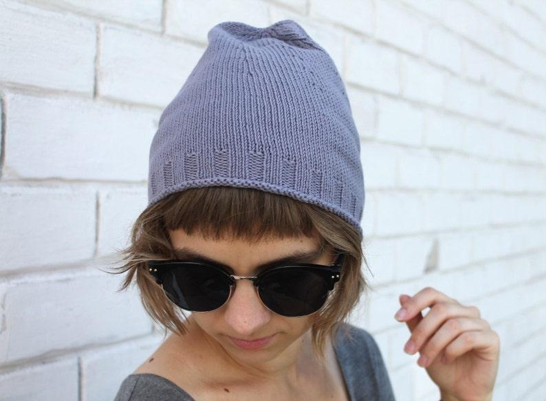 1c689d6c083ecc Organic cotton beanie Vegan hat Plain toque Lightweight | Etsy