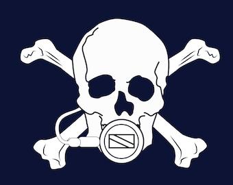 Scuba Diving Skull