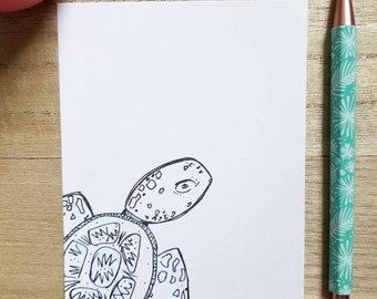 Set of 3 Stationery Gift Office and School Supplies Paper Memo Pad Wildlife Theme Design Sea Turtle Sticky Notes