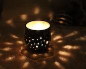 Ceramic Hurricane Candle Holder
