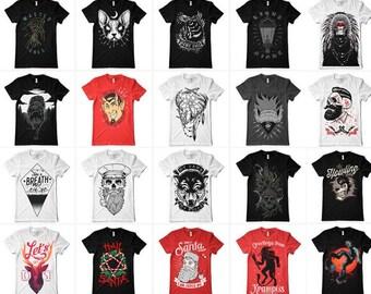 134 designs Vector packs t-shirt designs EPS for illustrator