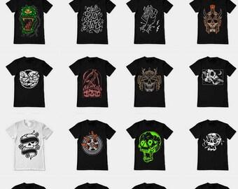 51 designs Vector packs t-shirt designs EPS PSD CDR