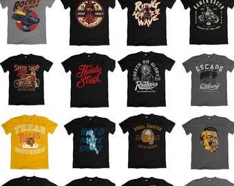 127 designs Vector packs t-shirt designs AI PSD