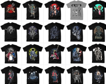 104 designs Vector packs t-shirt designs PNG & PSD