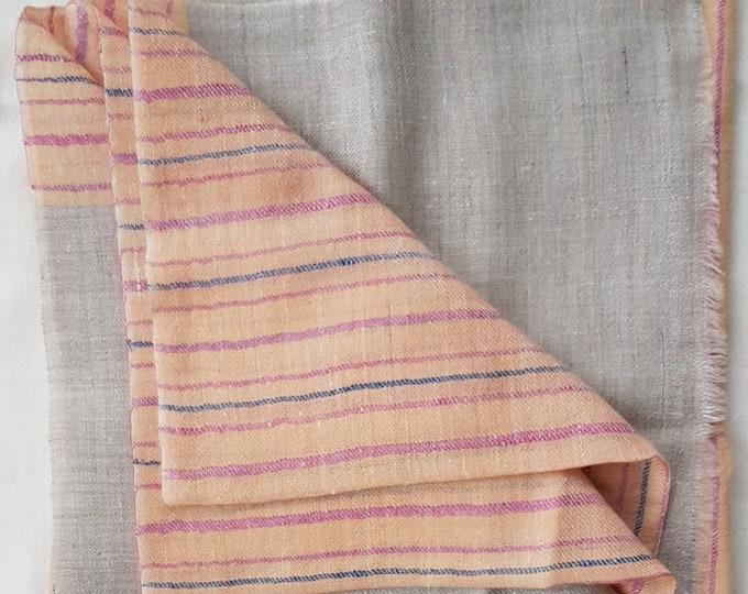 Luxurious Handloom Cashmere Scarf - Peach