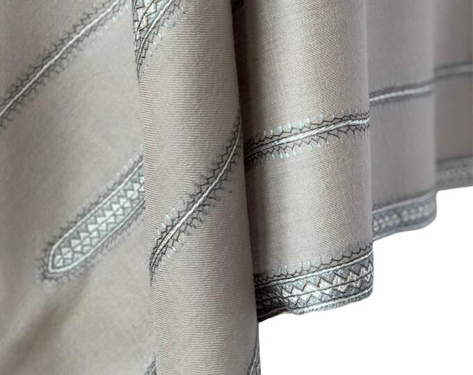 The Stripes Shawl - Grey