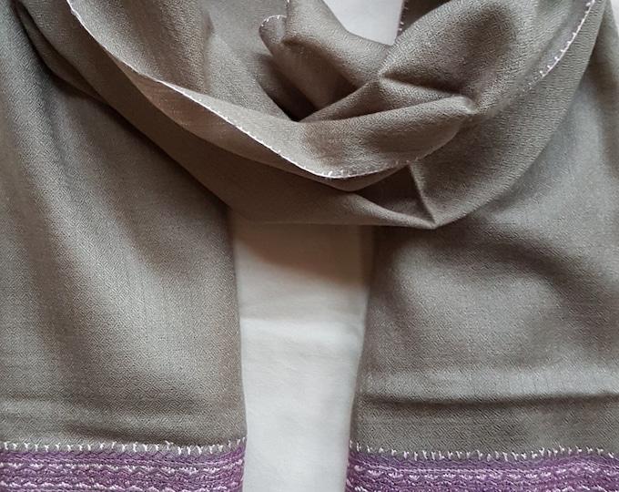 Zayna Royale Scarf - Grey Purple