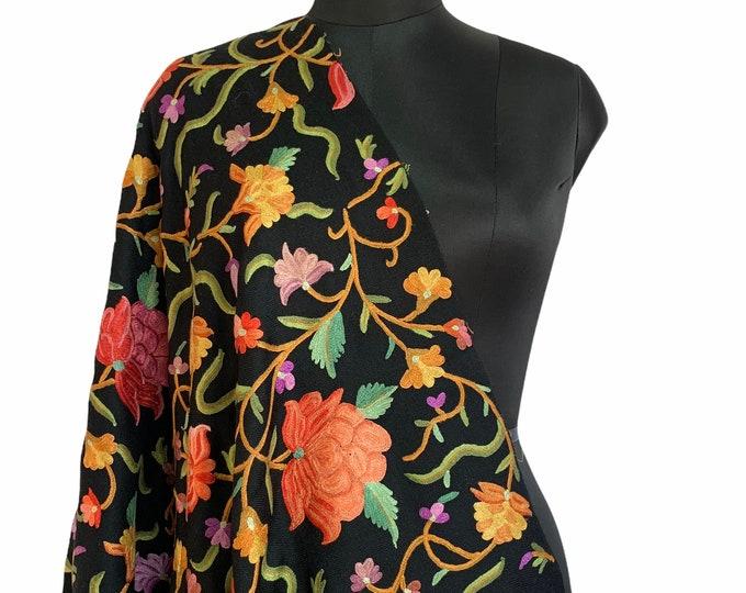 Aïsha Floral Medley Scarf - Black