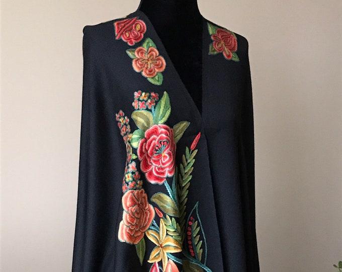 Aïsha Rose Bouquet Wrap - Black