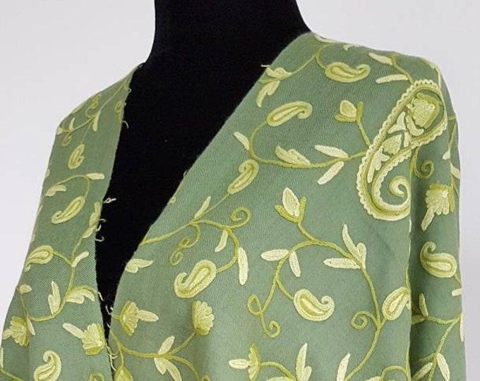 Güzel Motif Scarf - Pear Green