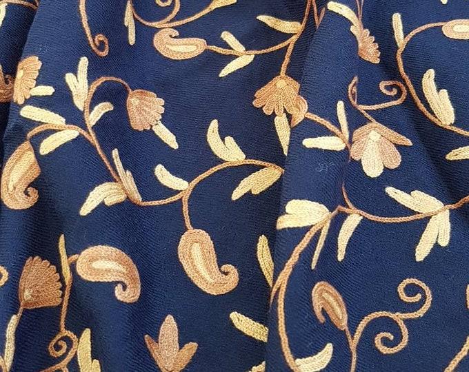 Field of Paisleys Scarf - Midnight Blue