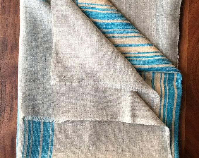 Handloom Cashmere Scarf - Sea Blue Grey