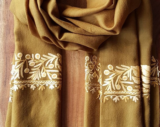 Grand Sycamore Scarf - Olive Brown