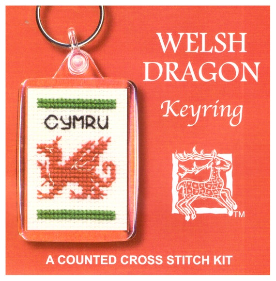 Wee Scottie Dug Dog Counted Cross Stitch Keyring Set