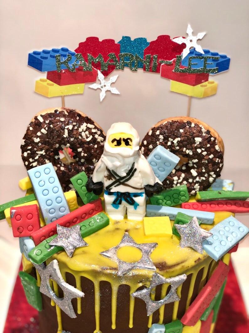 Excellent Lego Cake Topper Etsy Funny Birthday Cards Online Elaedamsfinfo