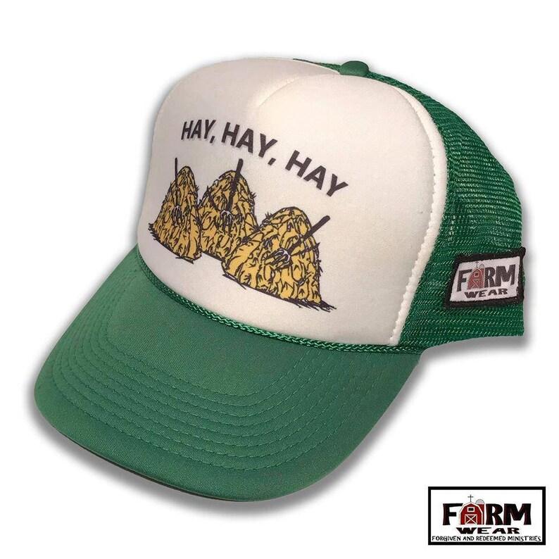 4f10258d793b4 Hay Hay Hay Trucker Hat Vintage Style Cap by Farm Wear